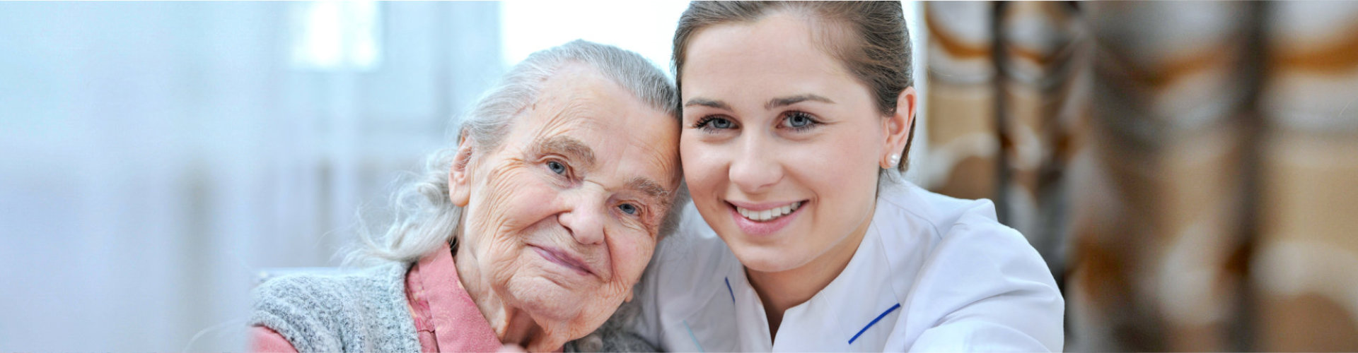 caregiver and elder woman