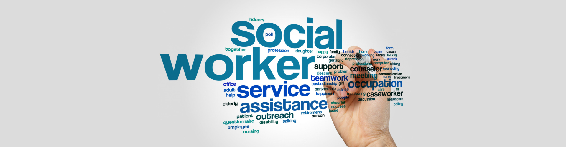 Social worker word cloud